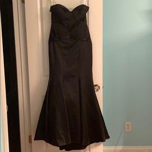 Black Zac Posen Strapless Evening Gown